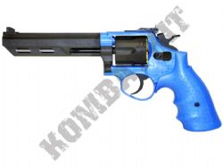 HG133 Gas Powered Revolver Airsoft Gun Black and Blue